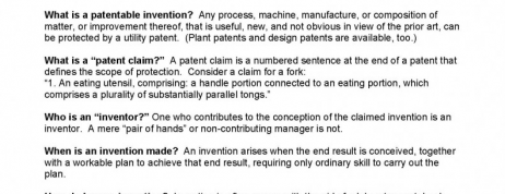 Patent Law 101 for University Scientists