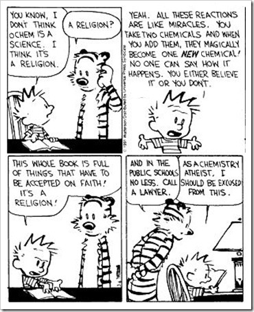 Calvin and hobbes on chemistry