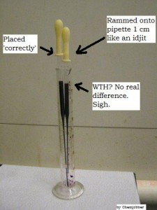 Still, be nice to your pipette bulbs!