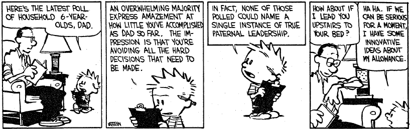 CLT #55: Calvin and Hobbes on Election Polling