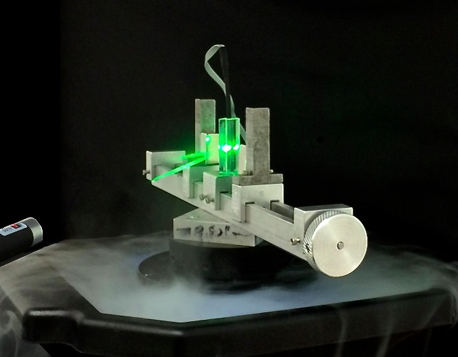 Laser through magnetic field